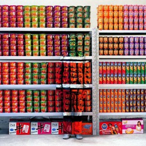 Hiding in the City No. 83 - Supermarket, 2009  Liu Bolin