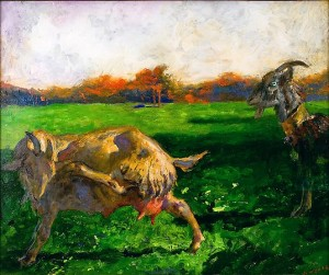 That Blue-eyed Goat, Jamie Wyeth, 2011