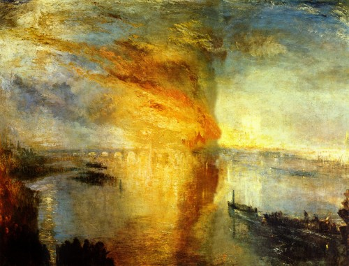 Burning of the Houses of Parliament, 1834 Turner