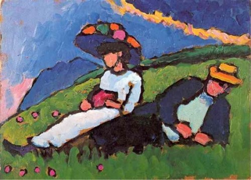 Jawlensky and Werefkin, 1908 Gabriele Munter