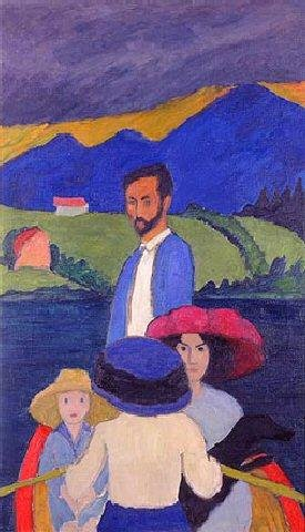 Boating, 1910 Gabriele Münter, Milwaukee Art Museum