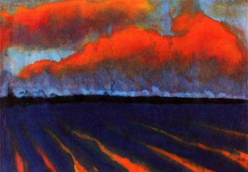 Evening Landscape North Frisia, Emil Nolde