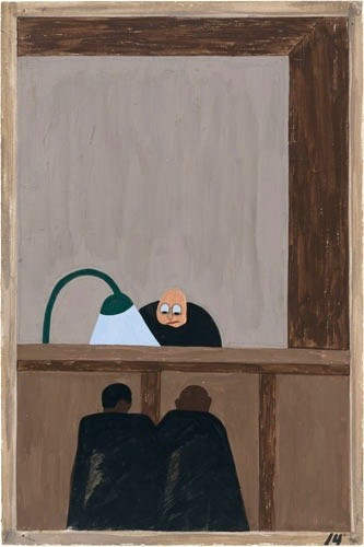 """For African Americans there was injustice in the southern courts."" Jacob Lawrence"