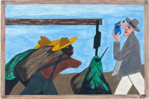 """The migration was spurred on by the treatment of the tenant farmers by the planter."" Jacob Lawrence"