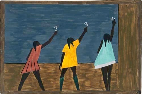"""In the North the African American had more educational opportunities."" Jacob Lawrence"
