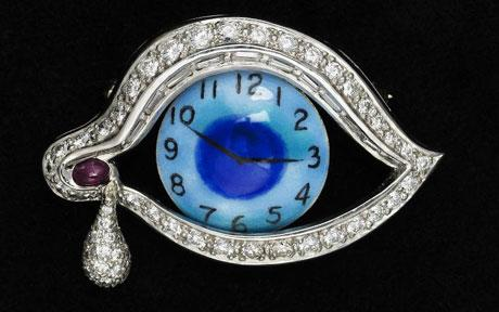 Eye of Time brooch, 1949 Dali Theatre-Museum, Catalonia, Spain