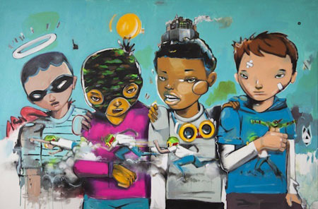 Spielbergian Climax, Hebru Brantley, 2014