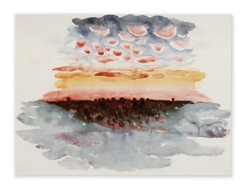 Sunrise and Little Clouds, 1916 Georgia O'Keffee
