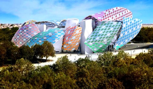 Fondation Louis Vuitton, Paris Observatory of Light by Daniel Buren, temporary installation