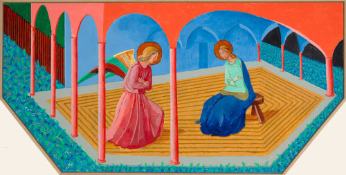 Annunciation 2, after Fra Angelico, 2017, David Hockney