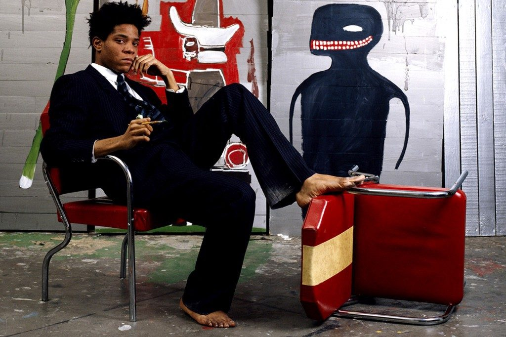 Jean-Michel Basquiat in 1985, AP
