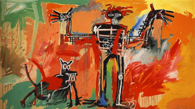 Boy and Dog in a Johnnypump, 1982 Jean-Michel Basquiat