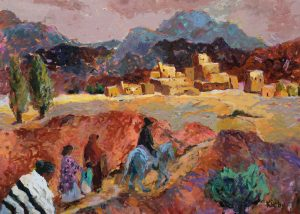 Road to Taos painting