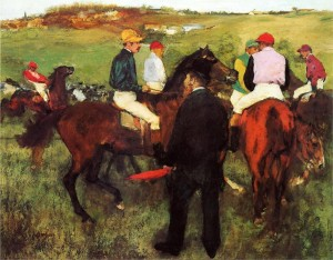 Racehorses at Longchamp, 1873 Edgar Degas