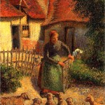 Shepherdess Bringing in Sheep, 1886 Camille Pissarro