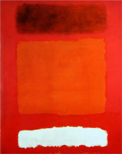 Painting - Red, White and Brown, 1957 Mark Rothko