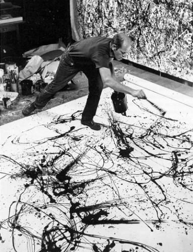 Jackson Pollock Drip Painting, 1956
