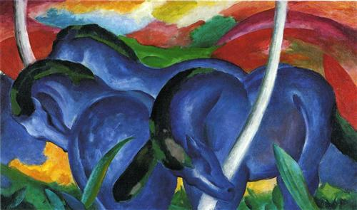 The Large Blue Horses, 1911Franz Marc