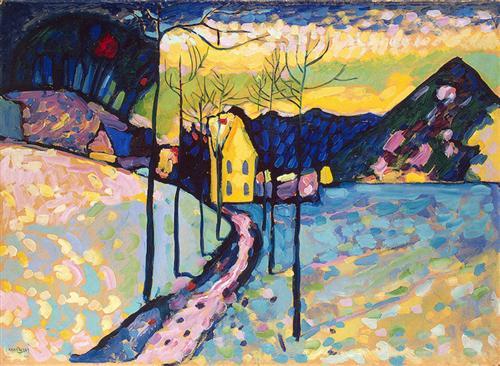 Winter Landscape I, 1909 Wassily Kandinsky