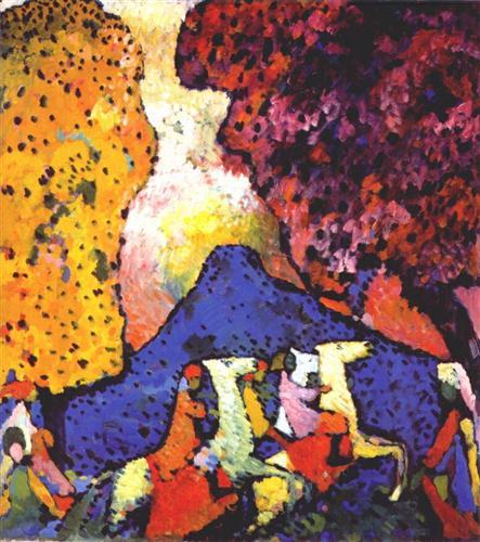 Blue Mountain, 1908 Wassily Kandinsky