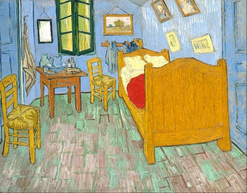 Vincent van Gogh's Bedroom in Arles, 1889 Chicago Institute of Art