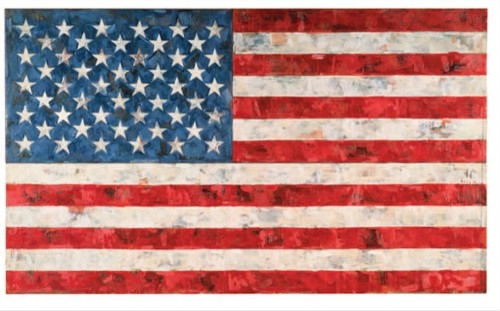 Flag, 1967 Jasper Johns, encaustic and collage on canvas (three panels) 33 1/2 x56 1/4in.