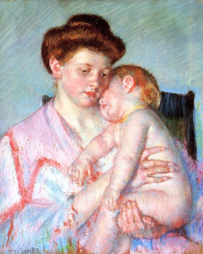 Sleepy Baby, 1910 Mary Cassatt Dallas Museum of Fine Arts, Dallas, Texas