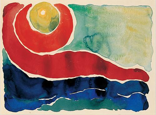 Watercolor, Evening Star No. IV, 1917
