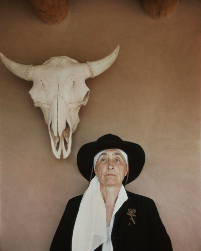 O'Keeffe photographed at home in Abiquiú, New Mexico