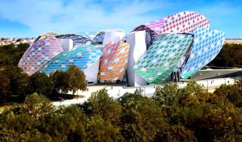 Fondation Louis Vuitton, Paris Observatory of Light by Daniel Buren, temporary installation