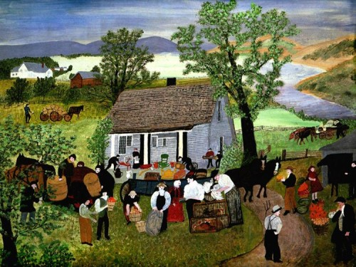 Morning Day on the Farm, 1951 Grandma Moses
