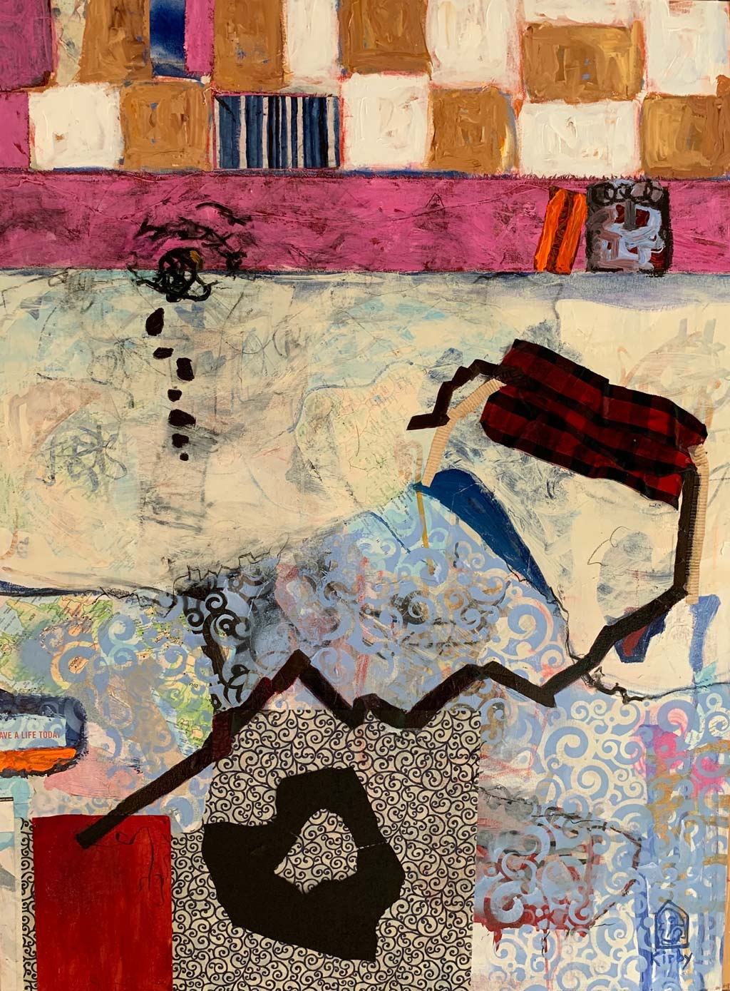 """Let Not Your Heart Be Troubled, Mixed media on canvas, 36 x 24"""""""