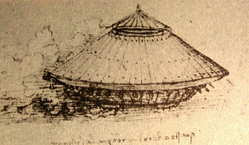 Drawing of a vehicle, 1505 Leonardo da Vinci British Museum, London