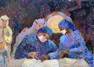 """Nighttime Warriors, Acrylic on canvas, 48x60"""""""