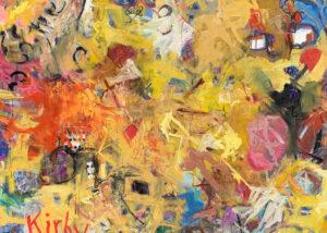 "Arabesque, Mixed media on canvas, 48 x 60"""