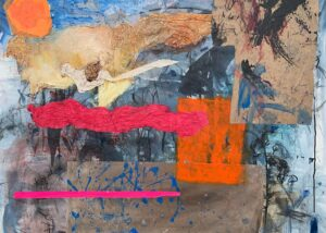 "Hard Day's Night, Mixed media on canvas, 40 x 48"""
